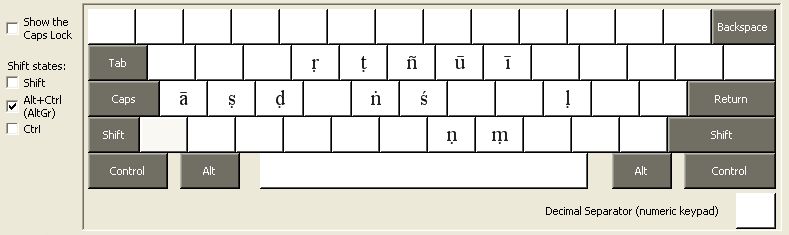 graphic relating to Printable Keyboards titled Pali Keyboard for Home windows XP and Vista
